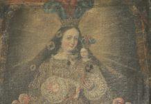Autoria Desconhecida - Nossa Sra do Rosario - Óleo