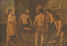 Autoria Desconhecida - Trabalhador Campones - Óleo