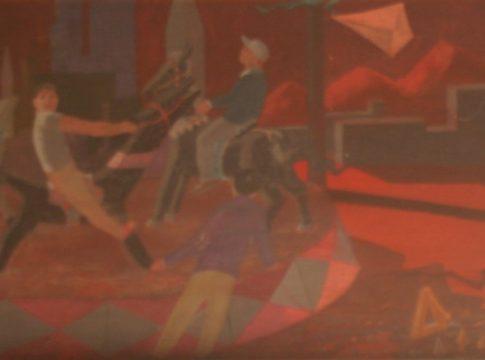 Grover Chapmann - Criancas na roda - Óleo