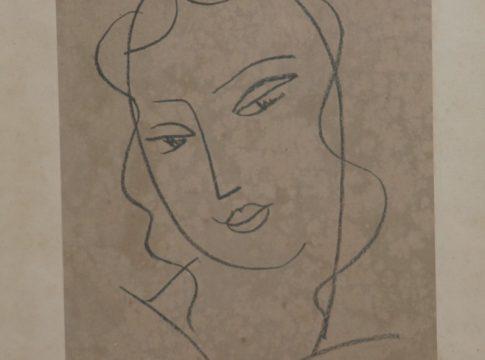 H.Matisse-Retrato-de-mulher-Gravura