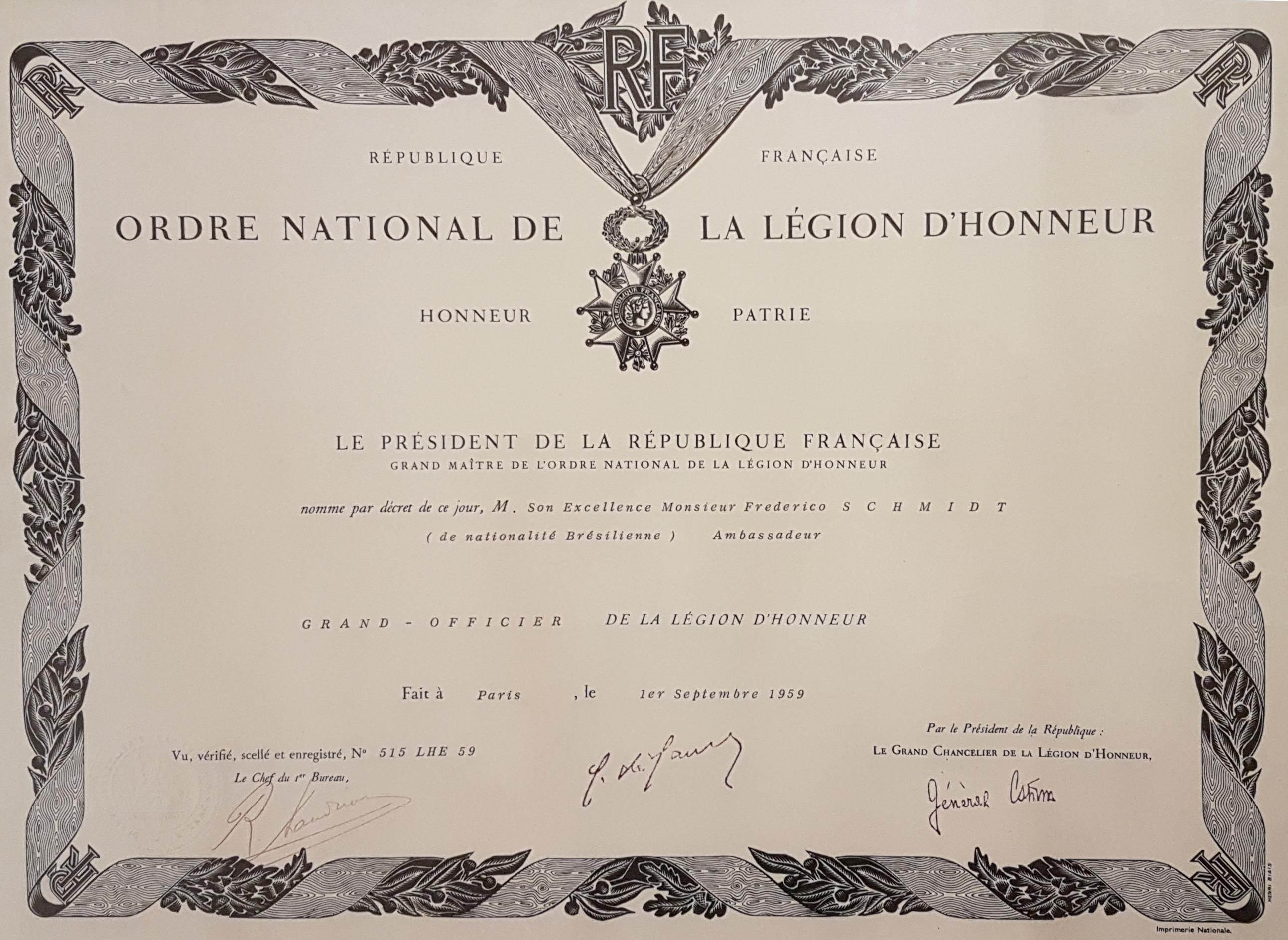 Legião de honra - Augusto Frederico Schmidt