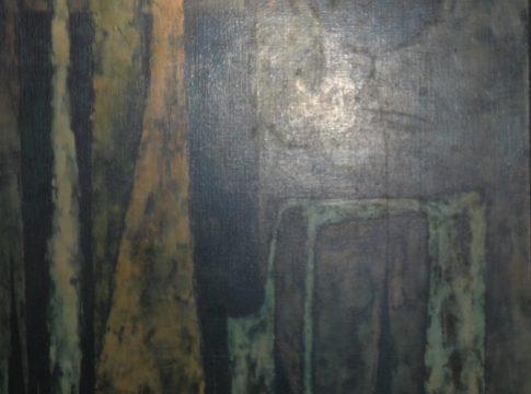 Lula Cardoso Ayres - Abstrato Óleo