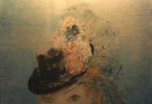 Noemia Mourao - Retrato de Mulher com chapéu - Óleo