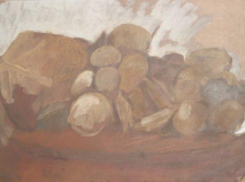 Scliar - Frutos - Óleo sobre madeira